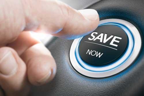finger pressing car ignition button